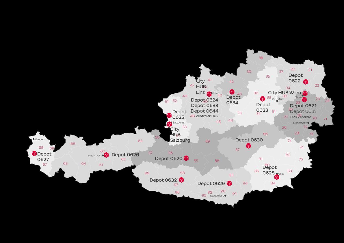 dpd depots deutschland karte DPD Österreich   kompetent, kundennah | Unternehmen » DPD Österreich