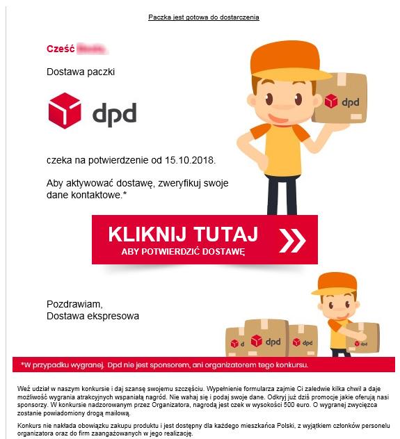 Fałszywe maile DPD Polska